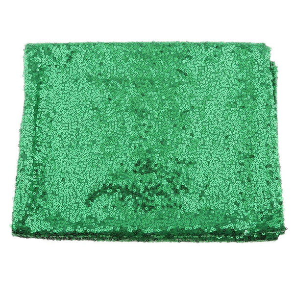 MagiDeal 12x108 inch Sparkly Sequin Green Table Runner Glitter XMAS Decor