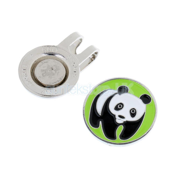 10Pcs Magnetic Hat Clip with Panda Golf Ball Marker Clip On Cap Visor