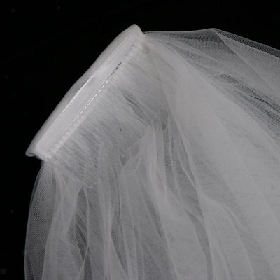 Wedding Veil Floral Appliques Edge Long Bridal Veils Bridal Hair Accessories