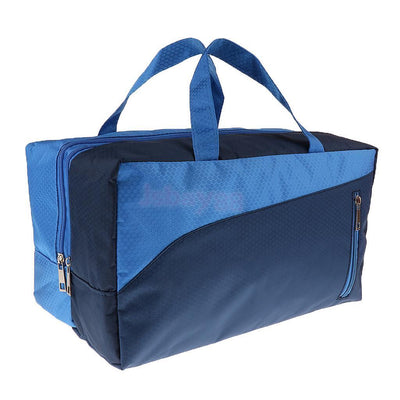Wet Dry Swimming Diaper Bag Gym Cosmetic Makeup Beach Travel Tote Bag Blue