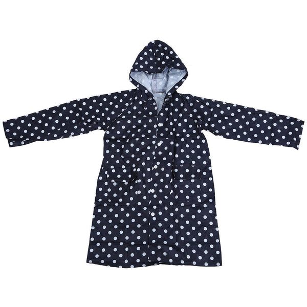 Outdoor Women Waterproof Riding Clothes Raincoat Poncho Pocket Polka Dot WS Z6E3