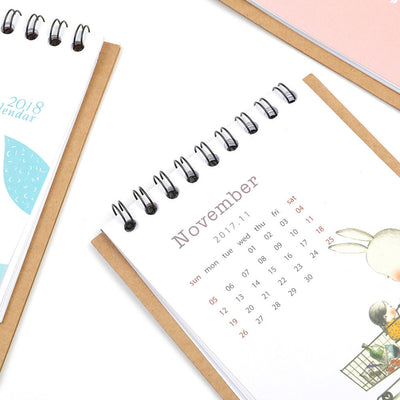 2018 Cute Cartoon Animal Desk Desktop Calendar Schedule Table Office Plan Random