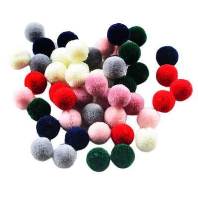 50pcs Wool Felt Balls Handmade Wool Balls Beads Embellishments for DIY Craft