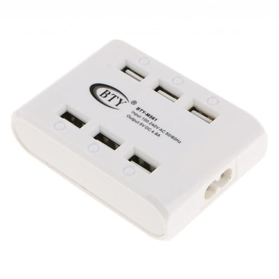 6 Ports USB Charger Desktop Charger Charging Station for Phone/IPAD/Camera
