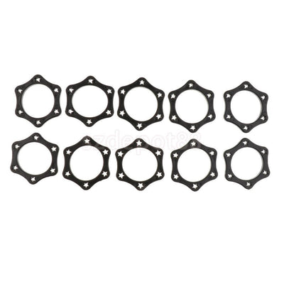 10Black Hexagonal Mic Slip Holder Roller Microphone Silicone Protection Ring