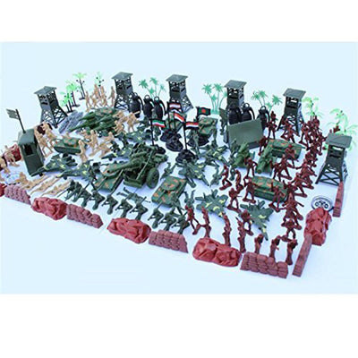 170pcs Military Base Set 5cm Soldiers & Assorted Accs - Tank Warplane & More