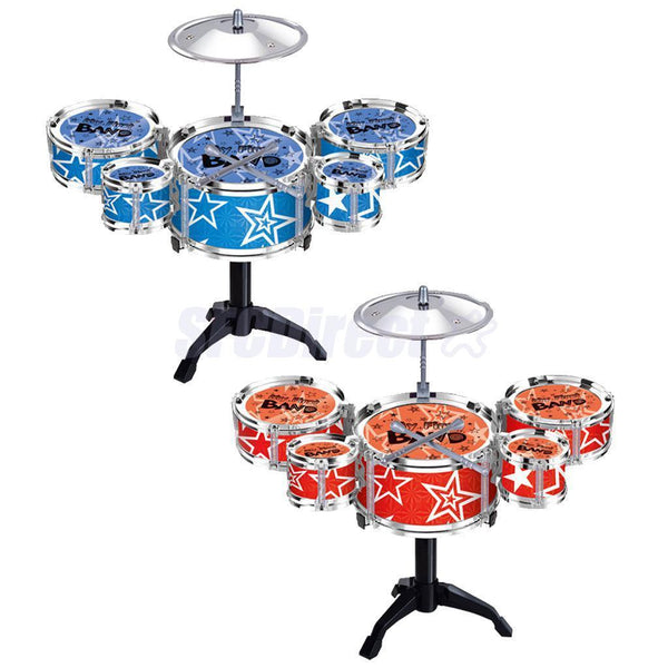 Set of Random Color Jazz Drum Playset Percussion Musical Instrument for Kids