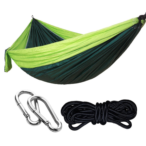 2Person 275x140cm Camping Nylon Hammock Parachute Hanging Bed 2#