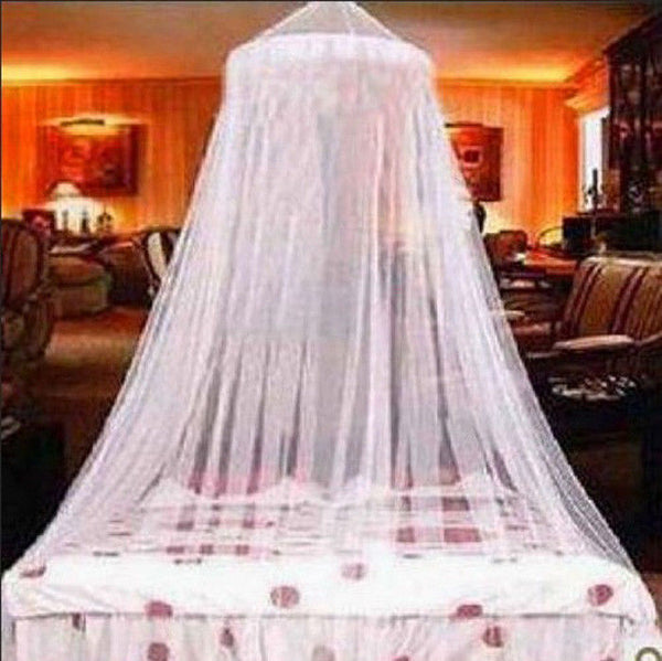 Classic Resort Style King Size White Mosquito Net or Bed Canopy Fits All Bed Rx