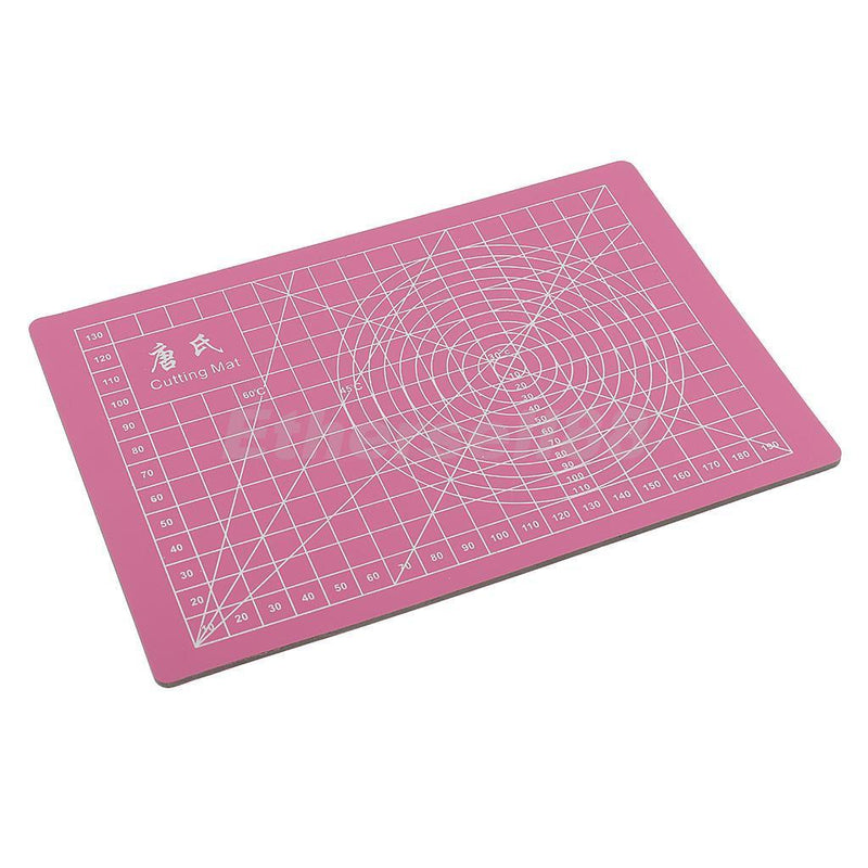 Pink Self Healing Double-Sided PVC A5 Cutting Mat 22x15cm Multipurpose