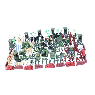 5cm Action Figures Army Men Soldier Military Playset with Vehicles 170pcs