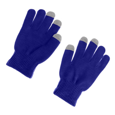 Unisex Touch Screen Gloves SmartPhone Tablet Winter Warmer Knit Mittens Blue