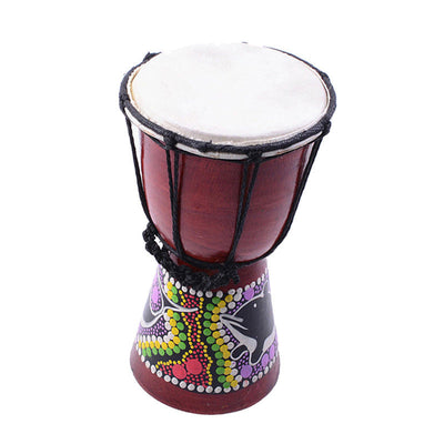 4 inch Djembe Darbuka African Bongo Hand Drum Dance Drum for Musical Lovers