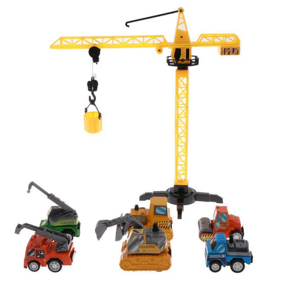 6pcs Construction Vehicle Truck Cars Toys Set Friction Powered Toys for Kids