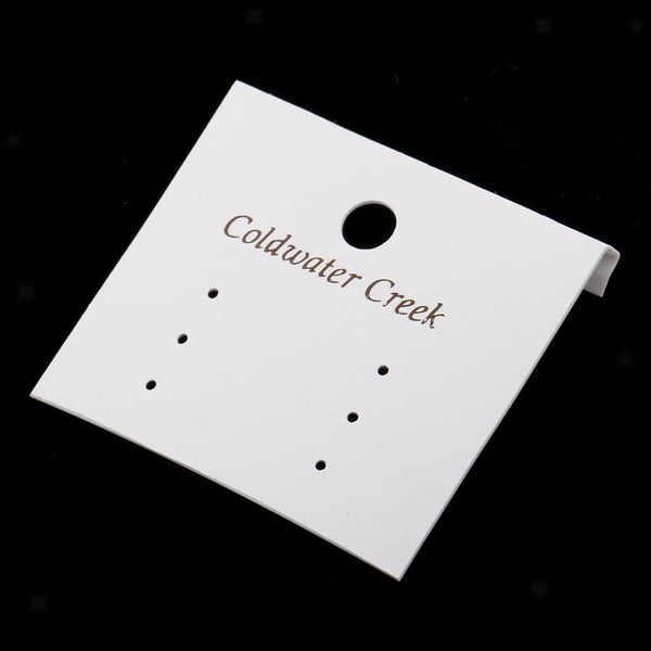 50pcs Earrings Display Cards Jewelry Hanging Stand Label Holders Tags DIY