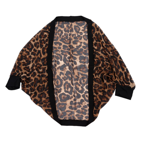 spring autumn cardigan sweater women sexy leopard long-sleeved shirt sweate A2P4