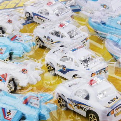 Police Car Plane Ship Land Sea & Air Defense of Team Vehicle Toys 12pcs/set