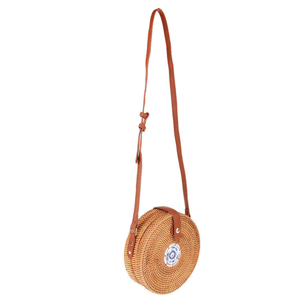 Hot Sale Women Girl Shoulder Bag Rattan Straw Handbags Crossbody Summer Bag