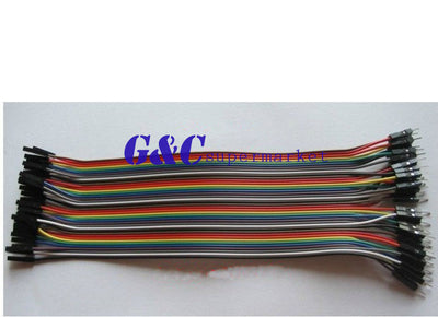 2pcs     40pcs×20cm 2.54mm  male to female Dupont cables wire cable