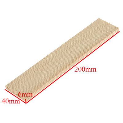 10pcs Pine Wood Rectangle Board Panel 20cm for Woodcrafts Supplies