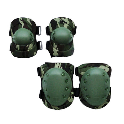Elbow & Knee Pads Set Outdoor Paintball Hunting Shooting Protective Pads