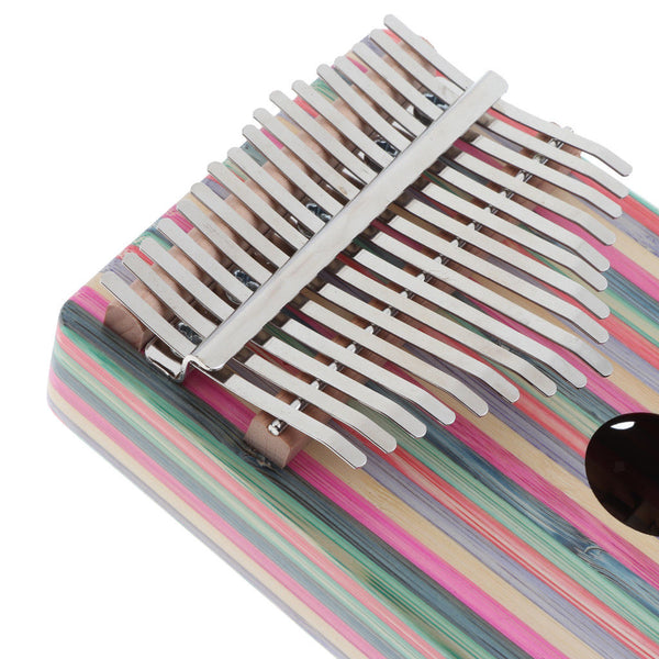 1 Set 17 Key Red Kalimba Mbira Finger Thumb Piano Musical Instrument