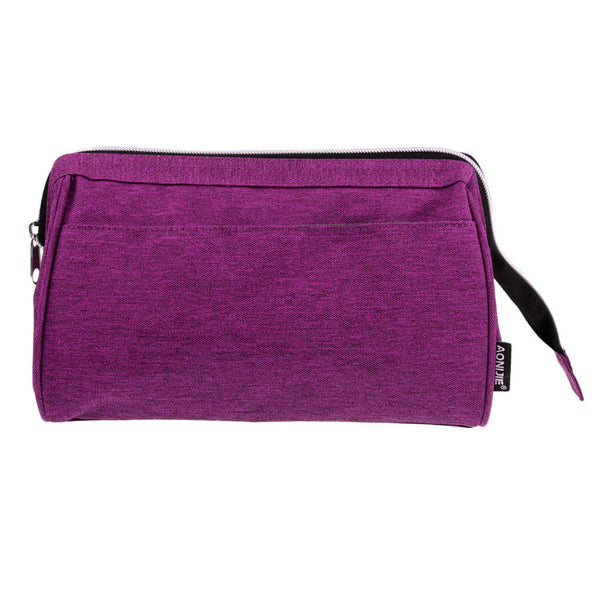 Cosmetic Organizer Wash Toilet Travel Zipper Bag Camping Hiking Beach Purple