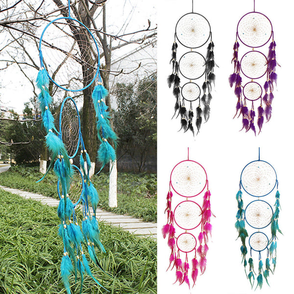 MagiDeal 2pcs Dream Catcher Home Hanging Home Wall Decoration Purple&Blue