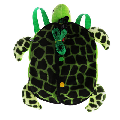 MagiDeal Kids Toddlers Turtle Backpack with Safety Leash for Boys Girls