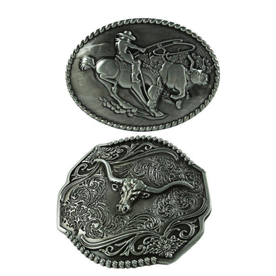 Classic Oval Horse&Rider Cattle Shaped Cowboy Belt Buckles Cool Accessories