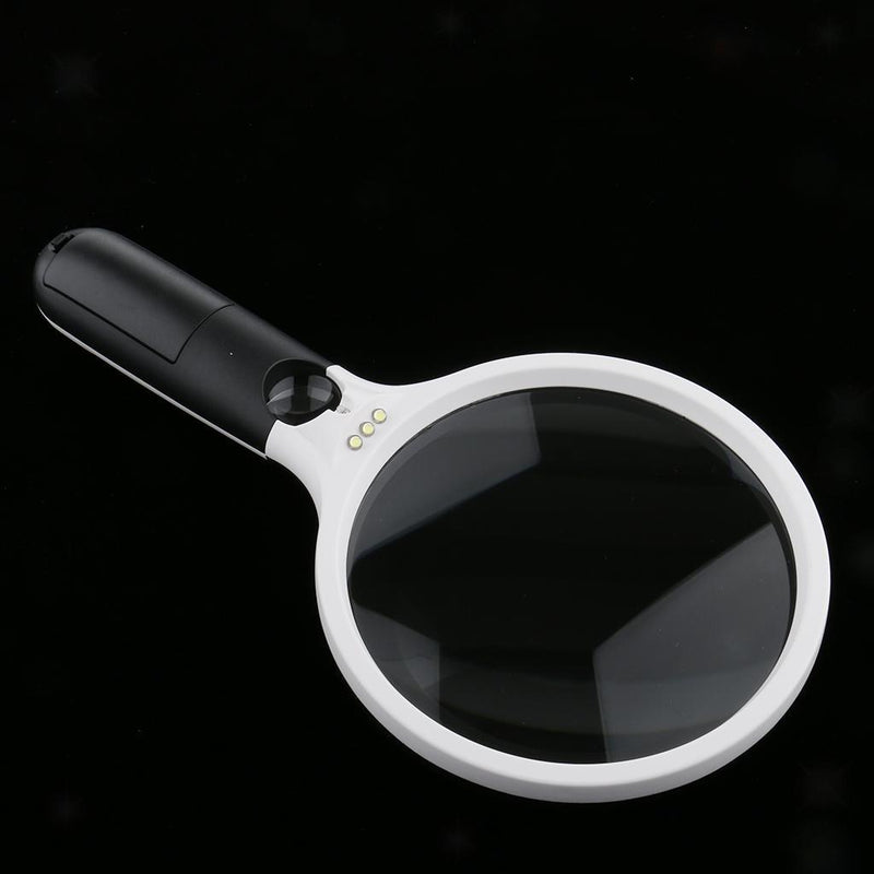 LED Light Magnifying Magnifier Lens Glass Reading Map Jewelry Loupe 2X 30X