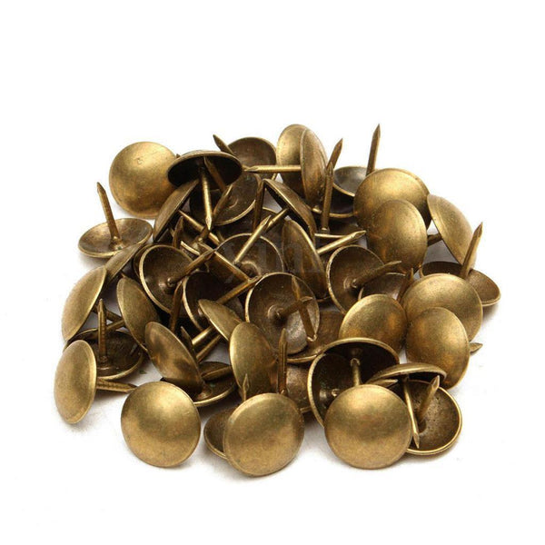 100 x BRONZE UPHOLSTERY NAIL PIN-11mm WIDE HEAD-11mm LENGTH-STUD/TACKS PINS
