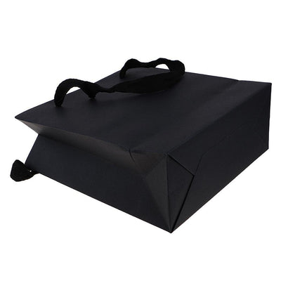 20 Pieces Party Black Kraft Paper Gift Bags Wedding Loot Bags 20 x 20 x 8cm