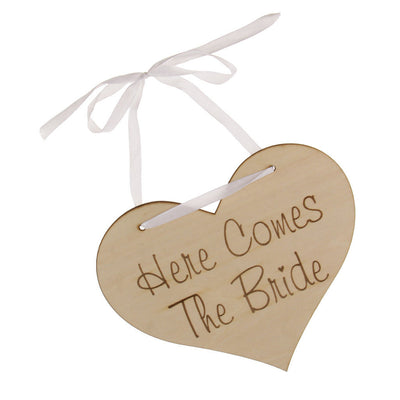 Here Comes Your Bride Wedding Page boy Flower girl Wooden Sign Props