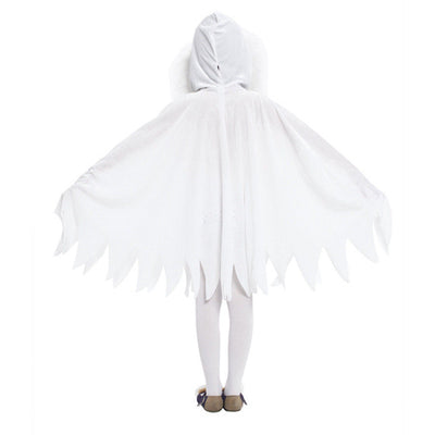 Kids Cloak Hooded Cape Little Ghost Costume Halloween Coplay Cloak