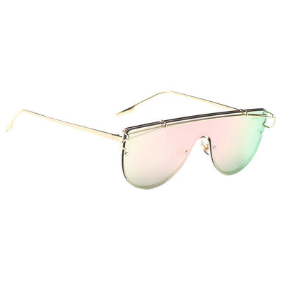 2 Pieces New Men Women Mirrored Sunglasses Alloy Outdoor Glasses