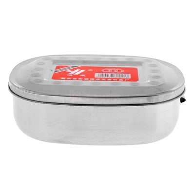 3xStainless Steel Bento Lunch Box Tableware Food Storage Container Oval Case