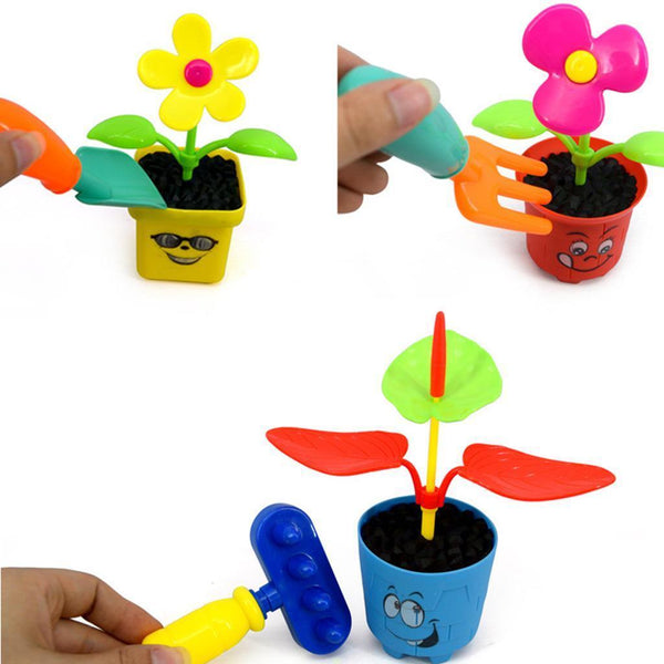 Set of Gardening Tool Planting Flower Childrens Kids Funny Outdoor Play Gift