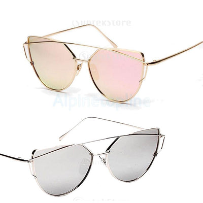 2 Large Oversized Women's Couple's Chic UV 400 Cat Eye Hippie Sunglasses