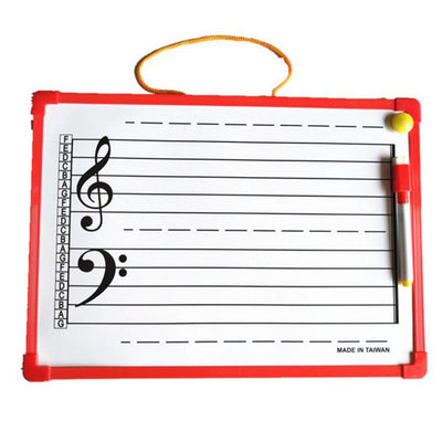 1 Set of Music Notation Whiteboard Dry Erase Board for Presenstaion 35x25cm