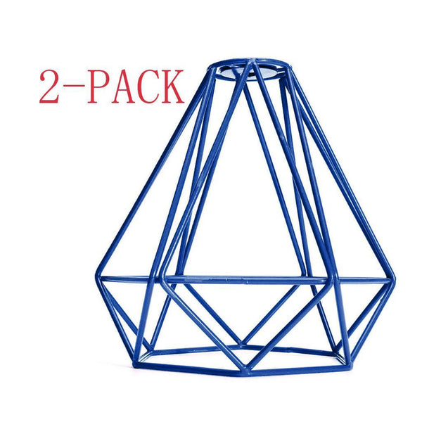 Home Decorative Diamond Pendant Living Ceiling Light Cage Lamp Shade Blue