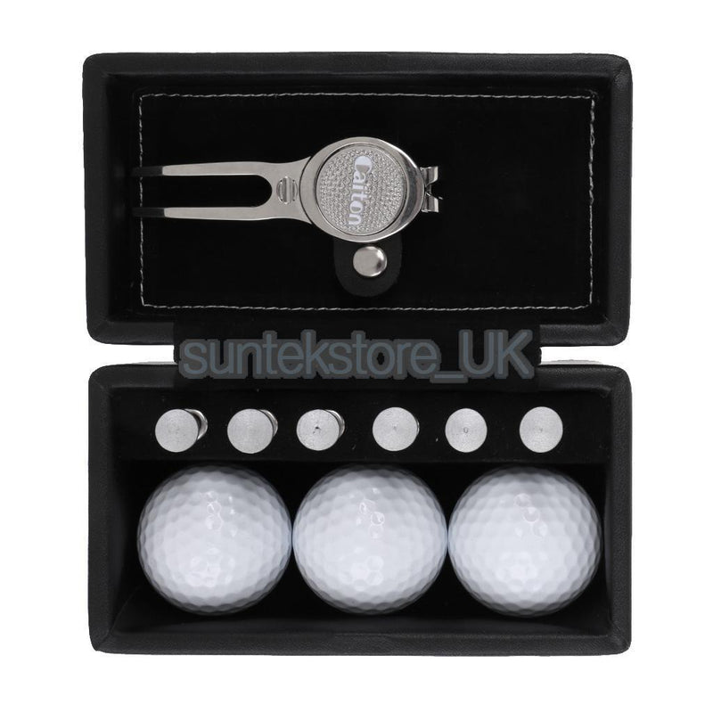 Premium Golf Gift Set with Balls, Ball Marker, Tees and Pitch Repairer