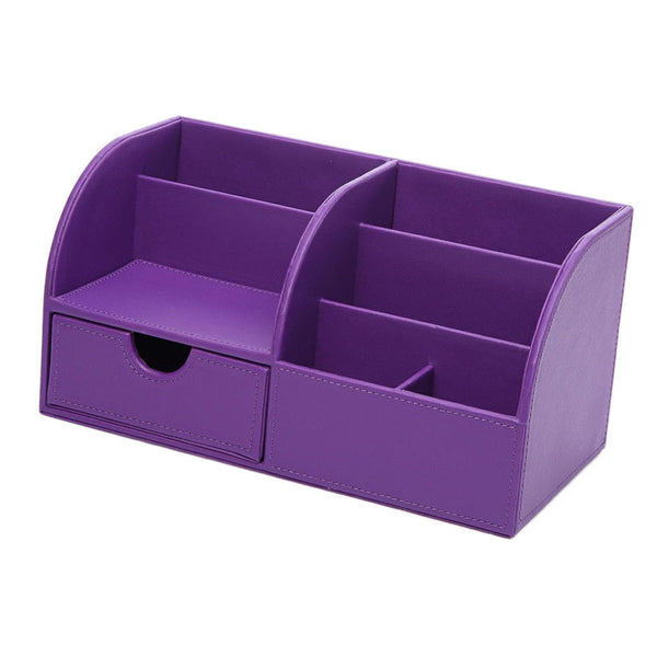 Multifuctional Stationery Container Pen Holder Desk Tidy Organiser Purple