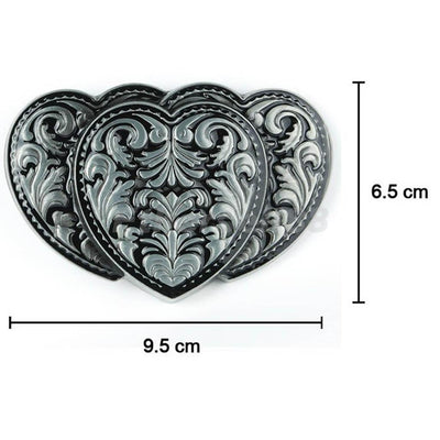 MagiDeal Grass Pattern Casual Style Tang Dynasty Design Cowgirl Belt Buckle