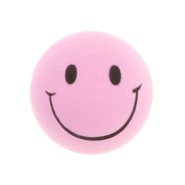 2.4 inches EVA Foam Balls Lovely Smile Face Balls Dog Toys - 4pcs, Pink