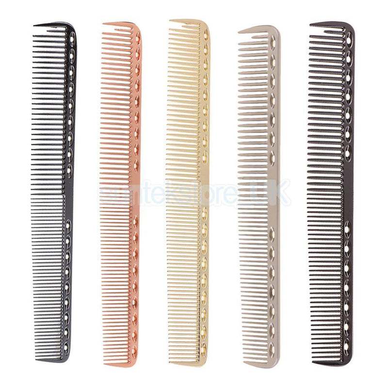 5pcs Aluminum Metal Salon Barbers Hairdressing Hair Cutting Styling Combs
