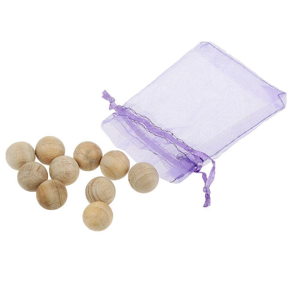 10x10 Natural Cedar Wood Moth Balls Camphor Repellent Wardrobe Clothes