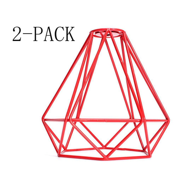 Industrial Diamond Loft Pendant Ceiling Living Light Cage Lamp Shade Red