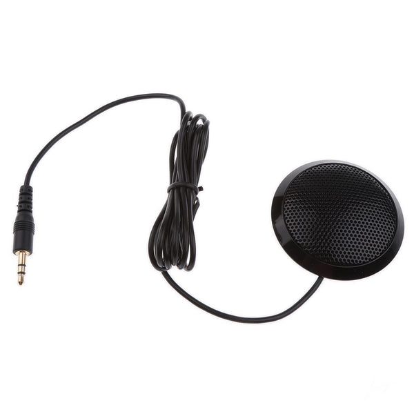 3.5mm Plug Conference Omnidirectional Boundary MIC For Tablet PC Phone Black