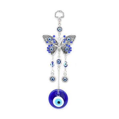 Turkish Blue Glass Evil Eye Amulet Wall Hanging Home Butterfly Lucky Protection